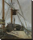 The Ship's Deck, c. 1860 Stretched Canvas Print by Édouard Manet