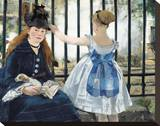 The Railway, 1873 Stretched Canvas Print by Édouard Manet