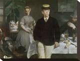 Luncheon in the Studio, 1868 Stretched Canvas Print by Édouard Manet