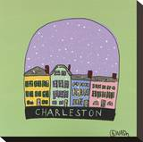 Charleston Snow Globe Stretched Canvas Print by Brian Nash
