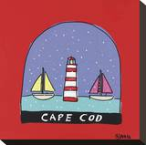 Cape Cod Snow Globe Stretched Canvas Print by Brian Nash