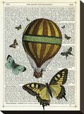 Butterflies & Balloon Stretched Canvas Print by Marion Mcconaghie
