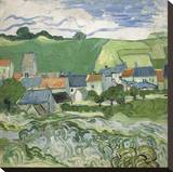 View of Auvers, 1890 Stretched Canvas Print by Vincent van Gogh