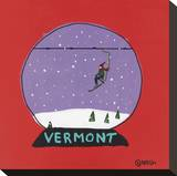 Vermont Snow Globe Stretched Canvas Print by Brian Nash