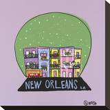 New Orleans Snow Globe Stretched Canvas Print by Brian Nash