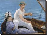 Boating, 1874 Stretched Canvas Print by Édouard Manet