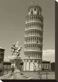 Pisa Tower Stretched Canvas Print by Christopher Bliss
