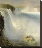 Niagara Falls, from the American Side, 1867 Stretched Canvas Print by Frederic Edwin Church