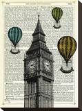 Big Ben & Balloons Stretched Canvas Print by Marion Mcconaghie