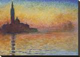 San Giorgio Maggiore at Dusk, 1908 Stretched Canvas Print by Claude Monet