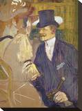 The Englishman at the Moulin Rouge, 1892 Reproducción en lienzo de la lámina por Henri de Toulouse-Lautrec