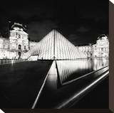 The Louvre, Study 4, Paris, France Stretched Canvas Print by Marcin Stawiarz