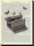 Typewriter Stretched Canvas Print by Marion Mcconaghie