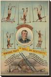 Prof.Theurer and his Inimitable Feats of Skills and Dexterity, c. 1883 Stretched Canvas Print