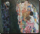 Death and Life, 1916 Stretched Canvas Print by Gustav Klimt