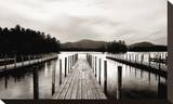 Docks Stretched Canvas Print by James McLoughlin