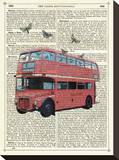 Butterfly London Bus Stretched Canvas Print by Marion Mcconaghie