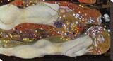 Water Serpents II, 1907 Opspændt lærredstryk af Gustav Klimt