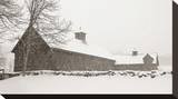 Barn in Snow Stretched Canvas Print by James McLoughlin