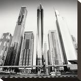 Rockets, Dubai, UAE Stretched Canvas Print by Marcin Stawiarz