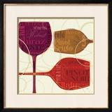 Colorful Wine II Framed Giclee Print by  Pela
