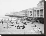 Steel Pier, Atlantic City, NJ, c. 1904 Reproduction sur toile tendue