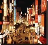 Shinjuku Neons, Tokyo Stretched Canvas Print by Marcin Stawiarz
