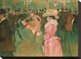 At the Moulin Rouge: The Dance, 1890 Stretched Canvas Print by Henri de Toulouse-Lautrec