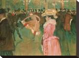 At the Moulin Rouge: The Dance, 1890 Reproducción en lienzo de la lámina por Henri de Toulouse-Lautrec