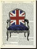 Union Jack Chair Stretched Canvas Print by Marion Mcconaghie
