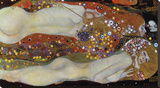 Water Serpents II, 1907 Lærredstryk på blindramme af Gustav Klimt