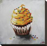 Cupcake 123 Stretched Canvas Print by  Roz