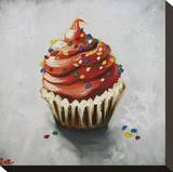 Cupcake 121 Stretched Canvas Print by  Roz