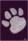Dog Breeds Paw Text Poster Posters