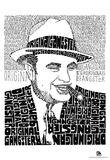 Al Capone on White Text Poster Prints