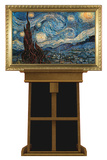 Starry Night by Vincent van Gogh on Museum Easel Fine Art Lifesize Standup Cardboard Cutouts by Vincent van Gogh