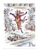 Fantastic Mr Fox Plakaty autor Quentin Blake