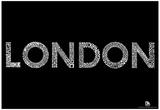 London Neighborhoods Text Poster Print