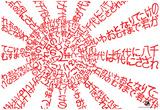 Banzai Japanese Flag Text Poster Prints