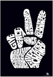 Give Peace a Chance Text Poster - Poster