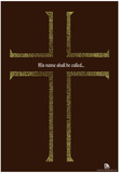 Names of Jesus Cross Text Poster Posters