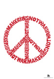 Make Ribs Not War Text Poster Photo