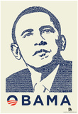 Obama Yes We Can Speech Text Poster - Reprodüksiyon
