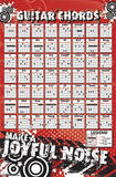 Guitar Chords - Joyful Noise Music Poster Posters