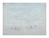 Yachts, 1920 Premium Giclee Print by Laurence Stephen Lowry