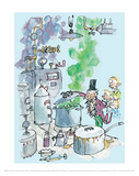 Charlie and the Chocolate Factory - Willy Wonka Lámina por Quentin Blake