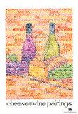 Cheese and Wine Pairings Text Poster Print