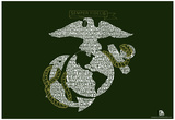 Marines' Hymn Lyrics Poster Prints