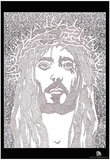 Face of Jesus Text Poster Photo