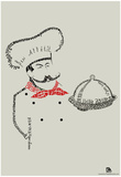 Chef Bon Appetite Languages Text Poster Prints